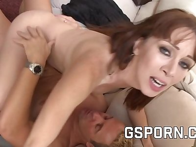 Hot mature milf is happy with a heavy cock in her pussy