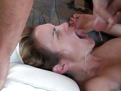 Nympho cuckold wife cumpilation