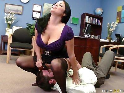 Sophia Lomeli has a fascinating bang with a sex machine, Charles Dera