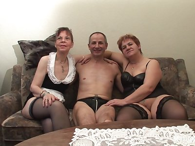 Two Grandmas Play With A Cock Each Other - Mature'NDirty