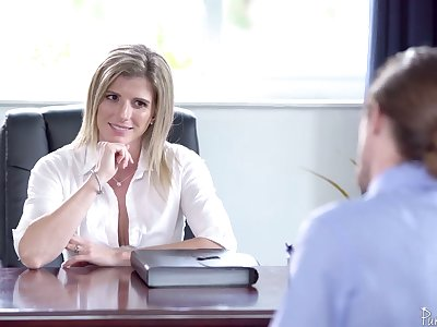 Unforgettable sex all round the office with smoking hot female boss Cory Chase