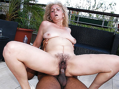 perishable 72 years superannuated granny first time interracial