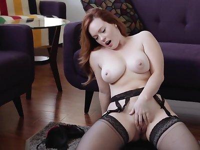 jerk off encouragement redhead big boobs