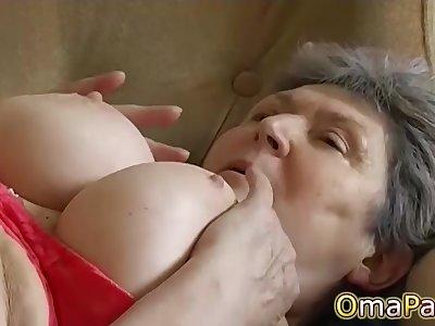 OmaPasS Amateur Flimsy Granny Pussy Compilation
