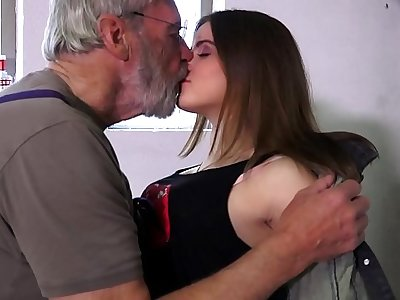 Such an innocent petite young pussy be worthwhile for an old horny hairy grandpa