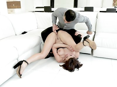 A dazzling anal off guard with a unerring woman