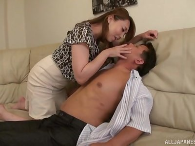 Big-busted Japanese join in matrimony Kazama Yumi drops her duds to enjoyment from