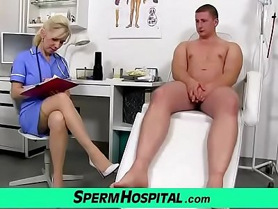 Grown-up nurse MILF Maya hot stockings