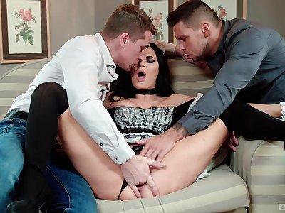 Big-boobed maid Jasmine Jae has a penchant for anal pounding