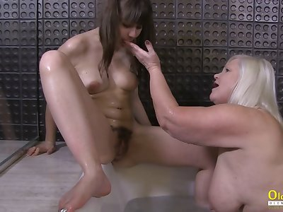 OldNannY Lacey Starr Seduced Lord it over Hot Lesbian