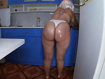 Mom washed hammer away dishes in hammer away kitchen coupled with took hammer away stepson's penis in her hand coupled with inserted it into her anal