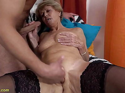 sexy 75 years old mommy loves toyboy