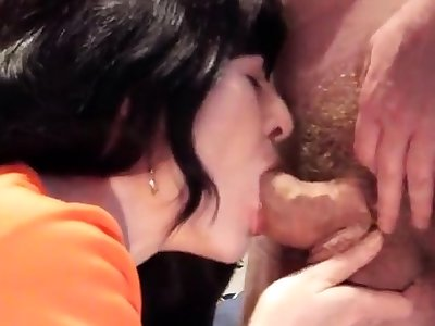 Housegirl Jessy loves a conceitedly saddle with of sperm in her mouth